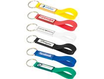 Silicone Sling Keyring with Dome-Indent